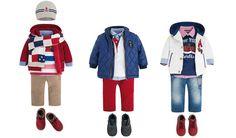 Tζιν, κόκκινες και  μπλε αποχρώσεις ρούχα για αγοράκια.