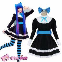 Cosplay Custom Costume Panty & Stocking Black Maid Dress SP151649