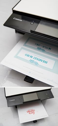 Printing these Love Coupons with our new Canon PIXMA TS9060!