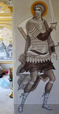 Byzantine Icons, Fresco, Samurai, Contemporary, Painting, Weapons Guns, Sculptures, Fresh, Painting Art