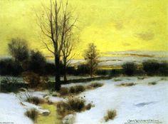 Winter Stream, huile sur toile de Charles Warren Eaton (1857-1937, United States)