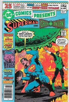 This issue features the appearance of the New Teen Titans - Raven, Starfire and Cyborg as told by Marv Wolfman, Jim Starlin and George Perez! This issue is out of print and hard to find! A great issue and a must have for any Superman or Teen Titans Fan! Best Comic Books, Comic Books Art, Comic Art, Book Art, Teen Titans Cyborg, Starfire And Raven, Starfire Dc, The New Teen Titans, Superman Comic