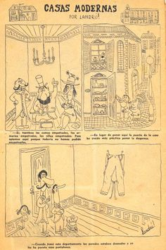 Revista Cascabel Nº 275, Febrero 1947, Casas modernas por Landrú / Landru