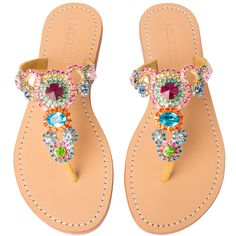 Hand-Made & Made to Order (2-3 weeks) 100% Leather Sole Suede Lining Between Toes for Added Comfort Embellished with Czech Crystals & Rhinestone Chain ½ Inch Heel Made in Bali, Shipped From Los Angele