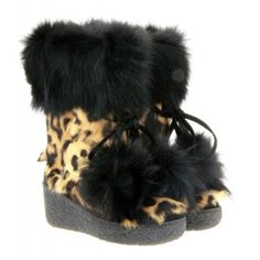 LAPIN LEOPARD WITH FUR BOOTS