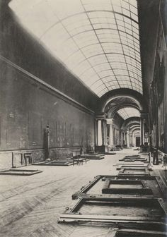 The Grande Galerie in the Louvre, abandoned at the beginning of World War II.