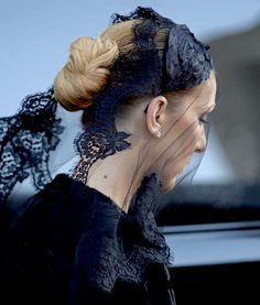 """""""Celine Dion arriving at her husband's funeral, Jan 22 2016. """""""