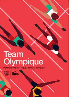 Lacoste Team Olympique Runners poster by Mike Lemanski Web Design, Vector Design, Layout Design, Poster Layout, Vive Le Sport, Sports Graphic Design, Sport Design, Grafik Design, Courses