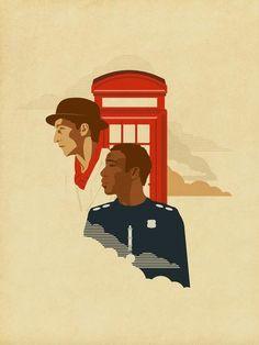 Inspector Spacetime fan poster.