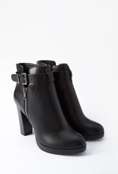 Faux Leather Ankle Booties | Forever 21 - 2000142390