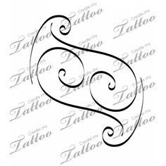 Intertwined letter J's Custom Tattoo | Something like this? #9447 | CreateMyTattoo.com