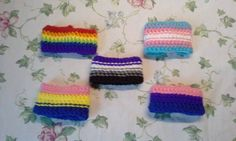 Sexuality Wristband  One Pair by LittleHorrorYarnWork on Etsy