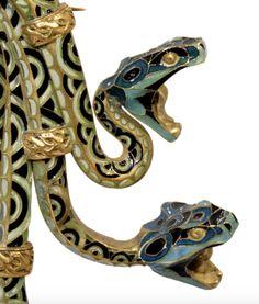 Enamel Serpent Brooch, ca. 1898-99 René Lalique