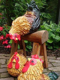 klik voor een grotere afbeelding Ceramic Birds, Ceramic Animals, Clay Animals, Ceramic Pottery, Ceramic Chicken, Crane Bird, Hand Built Pottery, Pottery Sculpture, Ceramics Projects