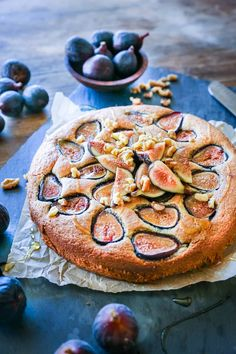Almond Flour Fig Cake - grain-free, refined sugar-free, dairy-free, paleo, and healthy