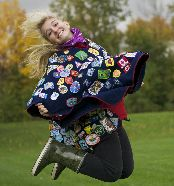 Girl Guide Camp Blanket vs. Camp Poncho Debate from Girl Guides Canada
