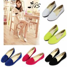 Womens Ladies Faux Suede Leather Ballerina Dolly Flats Ballet Pump Shoes Loafers
