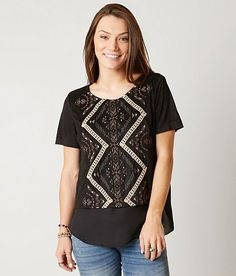 Miss Me Embroidered Top - Women's Shirts/Blouses | Buckle
