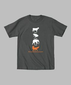 Charcoal Stacked Animal Pals Tee - Toddler & Kids #zulily #zulilyfinds