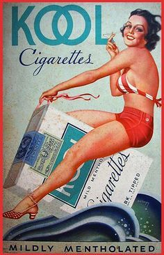 earle bergey poster Kool cigarettes