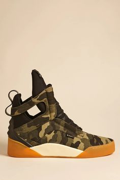 Product Name:Radii Camo High-Top Sneakers, Category:CLEARANCE_ZERO, Price:135