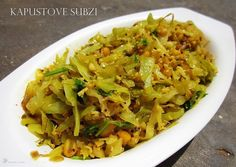 Kapustove Subzi India Food, Ethnic Recipes, Indian Dishes