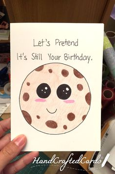 Cookie Belated Birthday Card Handmade Greeting By Handcraftedcard 500