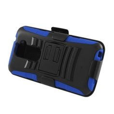 Insten Hard PC/ Silicone Dual Layer Hybrid Case Cover with Stand/ Holster For LG G2 D801 T-Mobile/ G2 LS980 Sprint