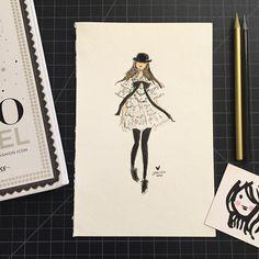 A girl can dream... @chanelofficial  #chanel #fashionsketch #fashionillustration #parisfashionweek by sophieandlili