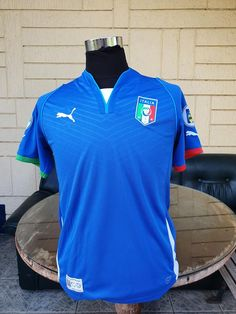 ITALY 2013 FIFA CONFEDERATIONS CUP 3RD PLACE HOME JERSEY MAGLIA CAMISETA SMALL MEDIUM / STYLE NUMBER: 740193 Vintage Jerseys, Football Jerseys, Fifa, Polo Ralph Lauren, Soccer, Number, Medium, Classic, Mens Tops