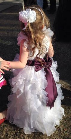 My flower girl! Her dress was so pretty she looked like an angel.  Organza ruffle ordered online.