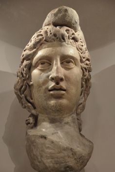 https://flic.kr/p/nkPaNR | Head of Mithras in Phrygian cap (CIMRM 815), from Walbrook Mithraeum in Londinium, AD 180-220, Museum of London, Britain | The temple of Mithras in Londinium, re-built and dedicated to the god Bacchus, continued in use until the end of the Roman period. A group of marble sculptures were buried in a small pit under the floor of the nave out of respect for an older religion. These sculptures included the heads of Mithras, Serapis and Minerva, the hand of Mithras and…