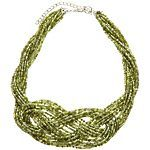 Lifestyle Studios Multi Row Seedbead Knot Necklace