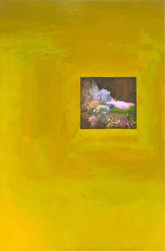 "UNTITLED ABSTRACT, MIXED MEDIA ON CANVAS, 36""x24"" keywords: abstract, conceptual abstraction, void, window, passage, color, surface, texture, mixed media, canvas"