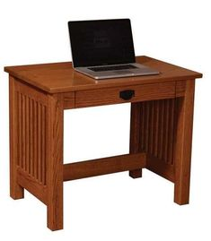 Amish JD's Small Writing Desk - Quick Ship A small yet mighty solid wood desk. Solid wood with mission style. Amish made with exceptional craftsmanship. #smalldesk #writingdesk
