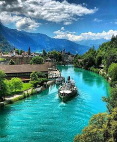 Interlaken, Switzerland is definitely on my list of places to visit in the future! ❤️🌎- switzerland travel - switzerland travel photography - places to visit in switzerland - Places Around The World, Travel Around The World, Around The Worlds, Dream Vacations, Vacation Spots, Vacation Ideas, Places In Switzerland, Switzerland Interlaken, Thun Switzerland