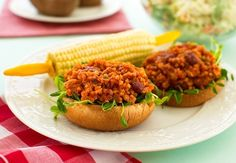 Here& a vegan sloppy joes recipe made simple. Quinoa and beans team up to make a tasty sloppy joe filling your family is sure to devour. Vegan Sloppy Joes, Sloppy Joes Recipe, Vegan Vegetarian, Vegetarian Recipes, Healthy Recipes, Vegan Food, Healthy Eats, Detox Recipes, Raw Food