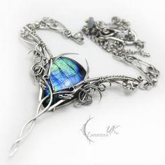 FALENTIEERH - silver and labradorite by LUNARIEEN.deviantart.com on @deviantART