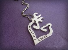 Hey, I found this really awesome Etsy listing at http://www.etsy.com/listing/178668314/buck-and-doe-hunting-personalized