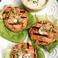 One bite of these flavorful and healthy salmon burgers—seasoned with pickled ginger, sesame oil and soy sauce—and you'll breeze right past the freezer section next time you're looking for a quick weeknight fix. #MyPlate