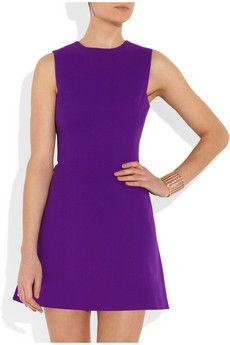 Victoria Beckham | Silk and wool-blend mini dress | NET-A-PORTER.COM