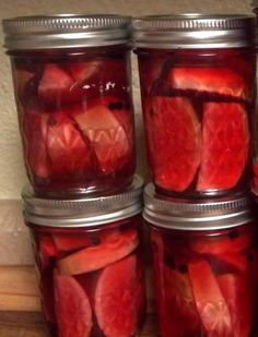 Honey pickled radishes and pickled radishes.