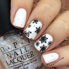 chinaglazeofficial White on White, topped with @opi_products Snow Globetrotter.