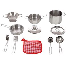 $19.99  Just Like Home Stainless Steel Cookware Playset - Silver - Toys R Us