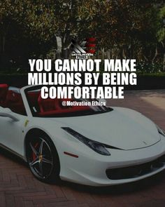 Millionaire you cannot make millions by being comfortable motivation goals, business motivation, business quotes Motivation Goals, Business Motivation, Business Quotes, Monday Motivation, Football Motivation, Motivation Quotes, Motivational Quotes For Success, Positive Quotes, Inspirational Quotes