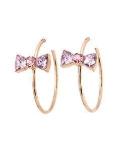 Betsey Johnson Bow Hoop Earrings  Feminine and adorable!