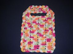 I designed this pattern to coordinate with Easy Peasy Baby Blanket by Marie Anne St. Jean (link can be found in my projects folder). Crochet Baby Bibs, Crochet Toddler, Crochet For Kids, Knit Crochet, Crotchet, Free Knitting, Baby Knitting, Knitting Patterns, Crochet Patterns