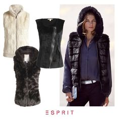#Esprit celebrates fall! Our cozy and stylish fake fur vests get you through Indian summer.