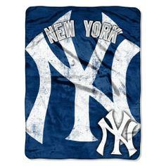 MLB New York Yankees Micro Raschel Plush Throw Blanket, Trip Play Design Northwest.