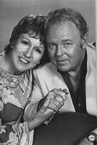 Edith Bunker (Jean Stapleton)  and   Archie Bunker (Carroll O'Connor)  (8/2/24 - 6/21/2001) American actor, producer and director whose television career spanned four decades.
